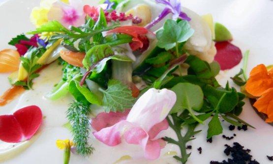 La celebre Gargouillou di verdure giovani di Michel Bras, un piatto che ha fatto epoca