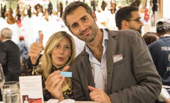 Cristina Cavalchini Guidobuono from Riso Buono and Dino Borri from Eataly New York