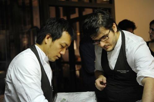 Yoji Tokuyoshi ed Enrico Vignolidell'Osteria Fra
