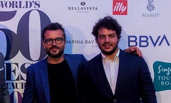 Con Christian Puglisi alla cerimonia della World's 50Best
