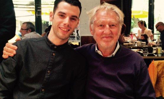 Un giovane Tonioni, qualche anno fa, con Pierre Gagnaire