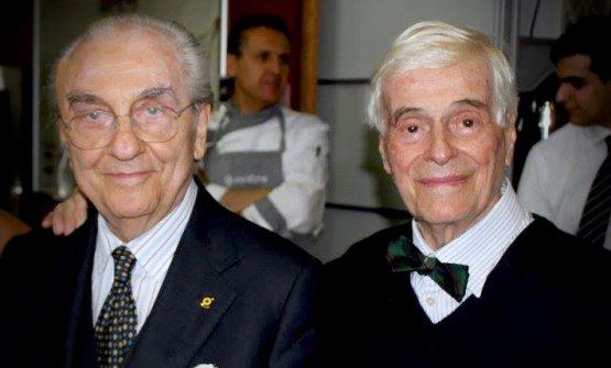 Gualtiero Marchesi ed Eugenio Medagliani: grandi a