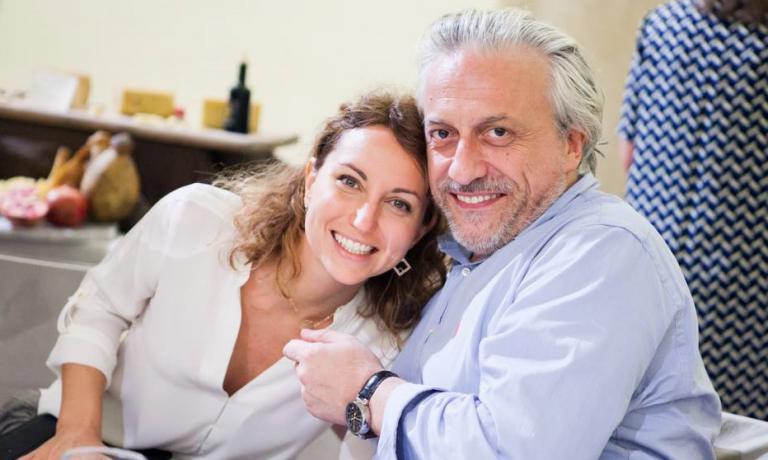 Elisa Pella, con lo chef Davide Scabin