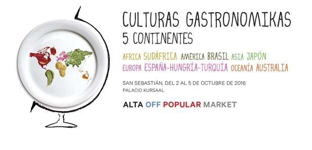 Si presenta con questa immagine il programma della nuova edizione di Gastronomika: il Congresso quest'anno è ben rappresentato da un mappamondo racchiuso in un piatto. Il linguaggio universale della cucina unirà i 45 chef ospiti dei 4 giorni della manifestazione