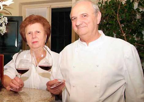 Gianni Bolzoni con la moglie, alcuni anni fa