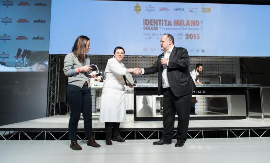 La Klugmann con Paolo Marchi a Identità Milano 2015