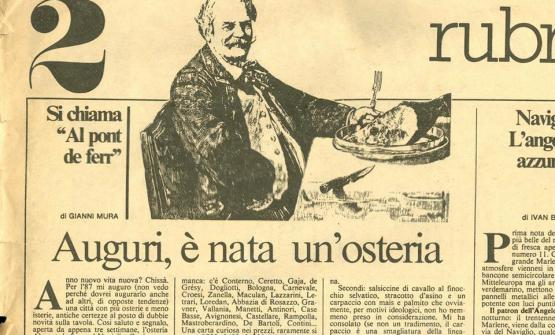 Un articolo del 1987 scritto daGianni Muraper Repubblicaracconta il neonato Pont de Ferr. Il locale ha festeggiato lo scorso anno le 30 candeline
