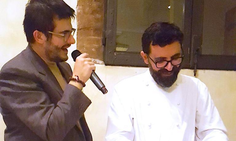 Enrico Vignoli con Pierluigi Di Diego a Enologica 2016