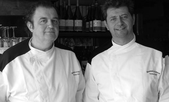 Stefano e Bruno Mazzotti, chef del ristorante Le G
