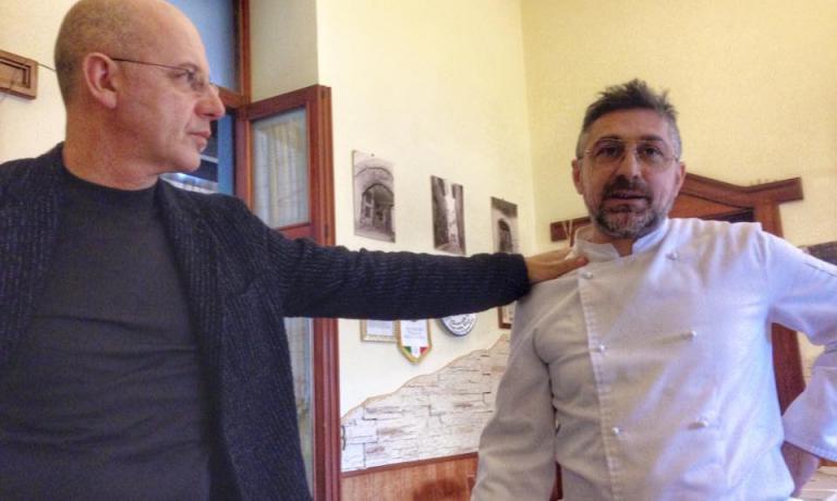 Franco Pepe, a sinistra, con Enzo Nocerino