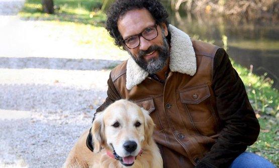 Federico Quaranta con il compagno di strada Kumash
