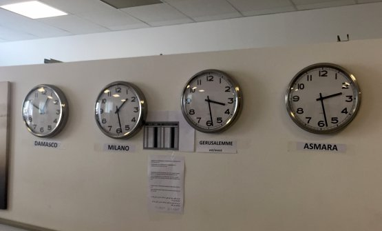 Time zones in the shelter Hub at Arca, in Via Sammartini