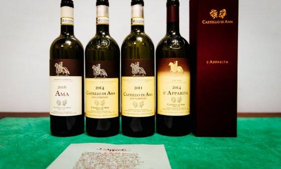 La degustazione di etichette di Castello di Ama (foto di Stefano Butturini)
