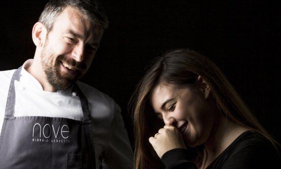 Giorgio ServettoeFrancesca Ricci, rispettivamente chef e restaurant manager delNovediVilla Della Pergolaad Alassio