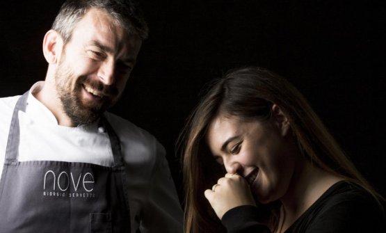 Giorgio Servetto e Francesca Ricci, rispettivamente chef e restaurant manager del Nove di Villa Della Pergola ad Alassio
