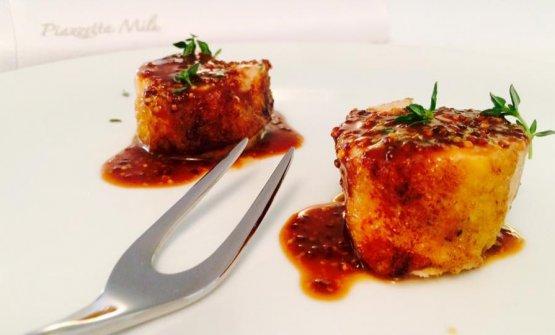 Un piatto a base di Galletto di Castellammare, dal menu del ristorante Piazzetta Milù, che si trova proprio a Castellammare di Stabia (Napoli)
