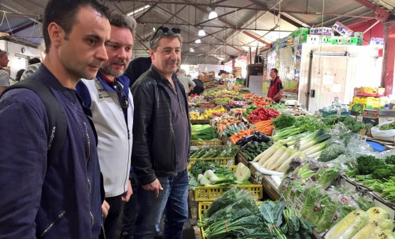 Xatruch with Albert Adrià and Joan Roca at the market in Barcelona