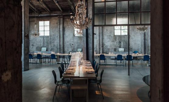La splendida sala del ristorante milaneseCarlo e