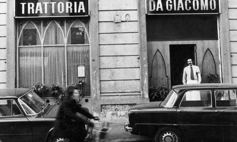 La storica trattoria di via Donizetti