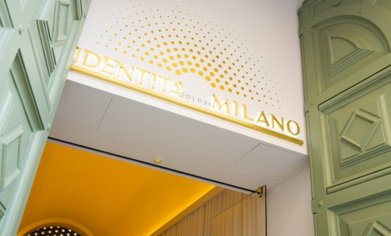 The entrance toIdentità Golose Milano. We'll