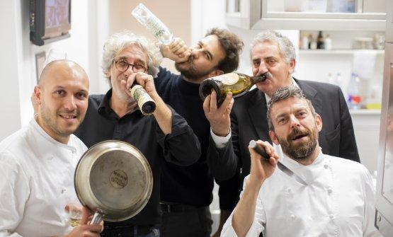 Marco Visciola, Franco Boeri (olio Roi), Paolo Boeri (Taggiasco ExtravirGin),Aimone Vio (BioVio), Giorgio Servetto