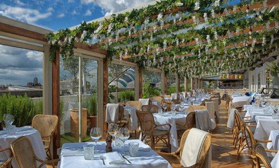 Il rooftopdel ristorantealtoaSelfridges, Londra, sede della serata speciale Viaggio in Italia