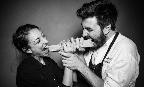 Camilla Corbelli e Mariano Guardianelli di Abocart due cucine