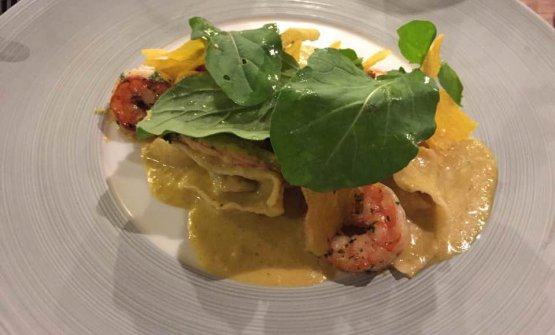 Crab and prawn ravioli with coconut sauce (photo from facebook)
