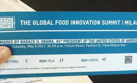 Il biglietto per assistere al discorso di Obama (foto Bowerman)