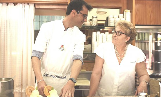 Iginio Ventura con mamma Pina
