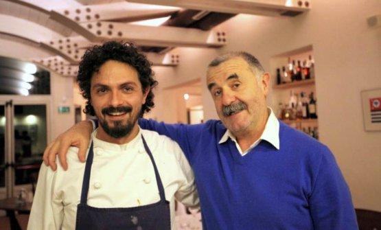 Pier Giorgio Parini con Fausto Fratti