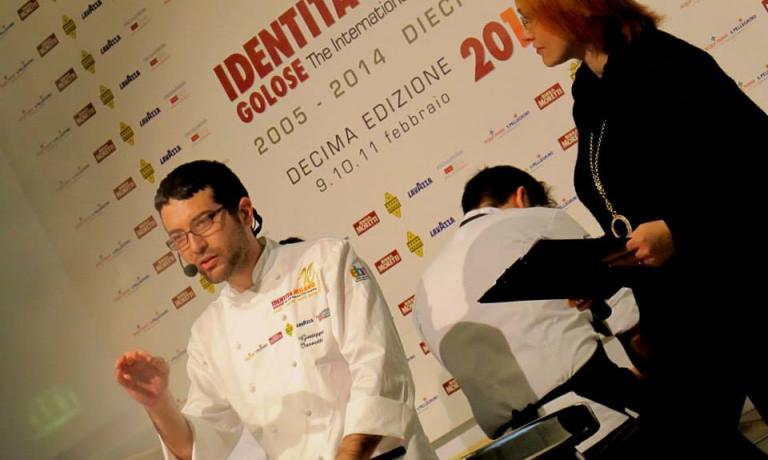 Giuseppe Iannotti during his lesson at the latest edition of Identità Milano