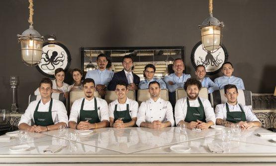 La brigata del ristorante Il Cappero
