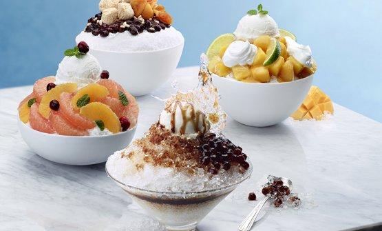 Quattro esempi di bingsu, dessert coreano (foto korea.net)