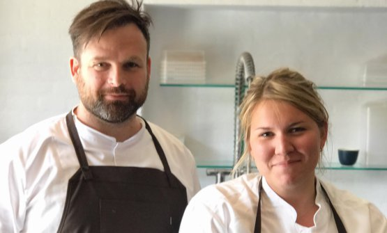 Thorsten Schmidt, chef e ideatore di Barr, con la head chef Mia Christiansen