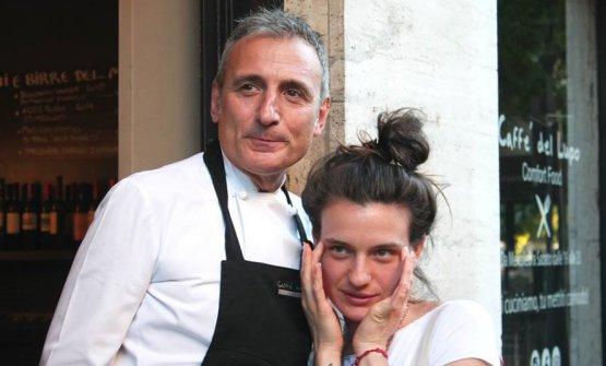 Luca Ferrara con la figlia Giorgia, che si occupa