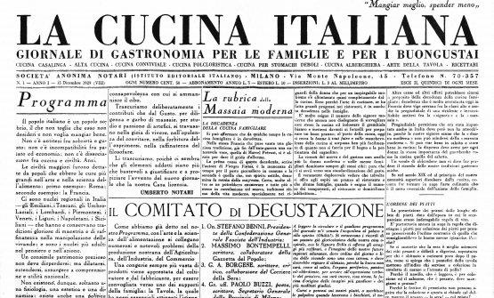 È il15 dicembre 1929, esce il primo numero de La Cucina Italiana. Nel solco di quella tradizione - che era già molto contemporanea - la rivista, profondamente rinnovata, per il secondo anno consecutivo sarà media partner di Identità Milano