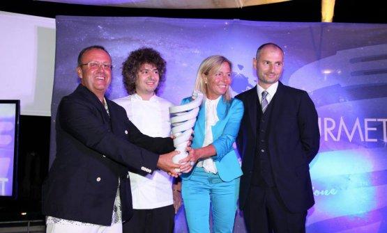 Gianluca Domenici con Valentino Cassanelli,Cristina Vascellarie Sokol Ndrekodell'hotelPrincipe Forte dei Marmi