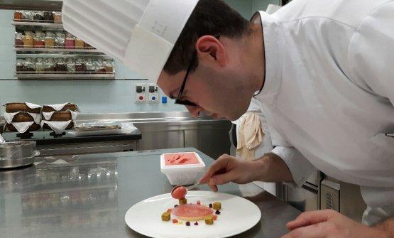 Michelangelo Coviello, al lavoro nella cucina dell