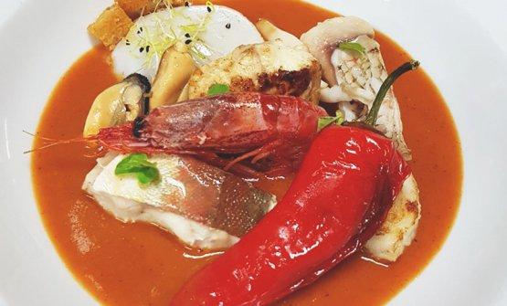 L'ormai famosa zuppa di mare de La Bodeguita