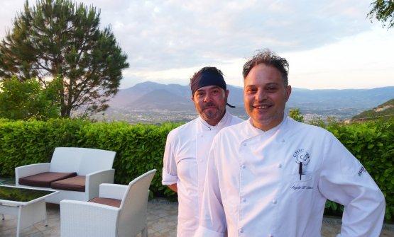 Angelo D'Amico, a destra, con il sous chef Giuse