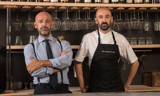 Davide Maci, chef del The Market Place di Como, col fratello Simone
