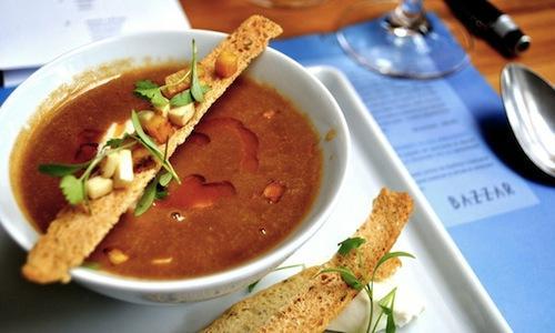 The Caldinho de siri (crab soup) of the new-born B