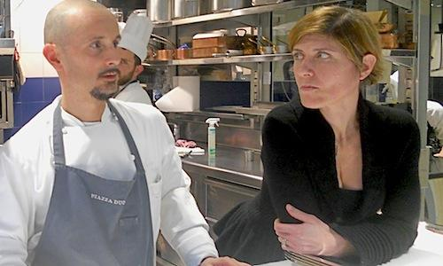 Enrico Crippa and Roberta Ceretto, respectively chef and patron at Piazza Duomo in Piazza Risorgimento in Alba (Cuneo), tel. +39.0173.366167. Recent works have added a room (seating around ten people) and rationalised the kitchen. As of May, thanks the creation of 4 bedrooms, it will also be possible to spend the night