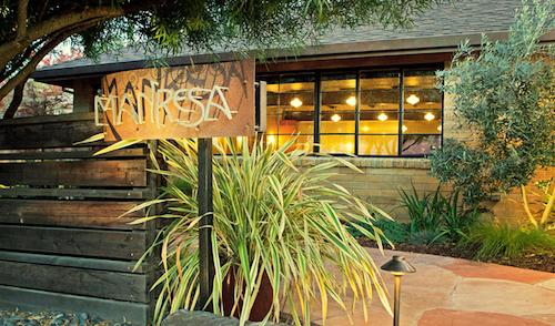 The entrance to Manresa in Los Gatos, a one hour d