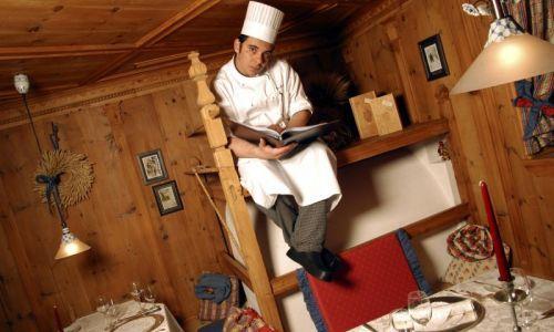 Felice Lo Basso in the restaurant of the Alpenroya