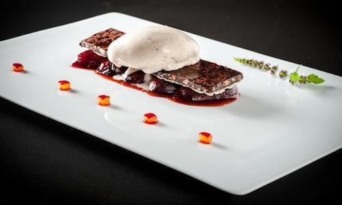 Nella foto, il piatto con cui Alessio Cancedda,
