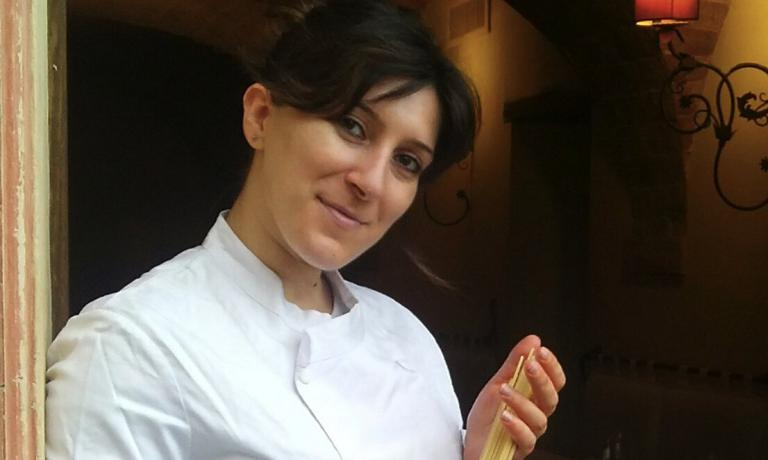 Sabrina Tuzi, born in 1984, chef at La Degusteria