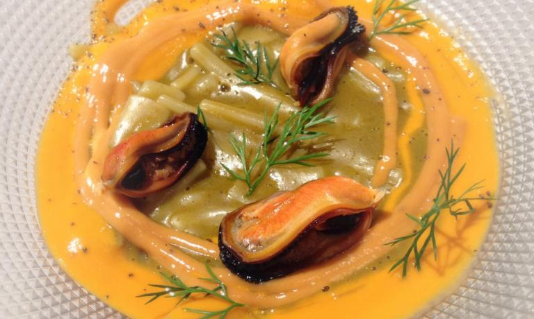Impepata: a delicate mix of mussels, pepper and le
