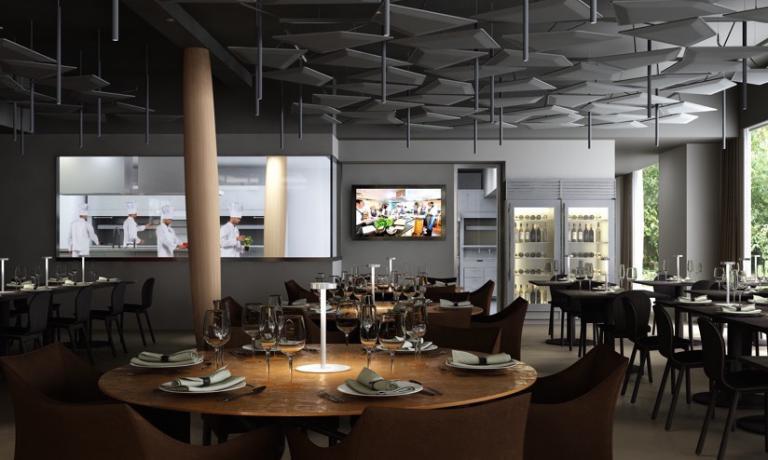 Il piano terra di Identità Expo, il ristorante di